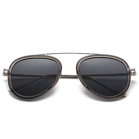 Yangjing-hl Gafas de Sol de Metal de Moda Gafas de Sol de ...