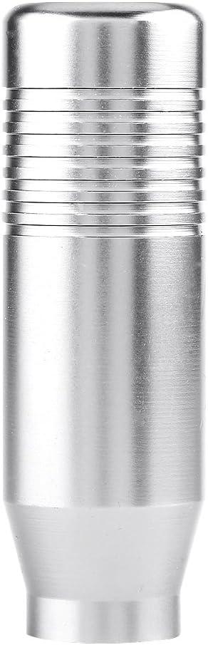 Keenso Auto Schaltknauf Aluminium Legierung Universal Schalthebel Schaltknauf Silber