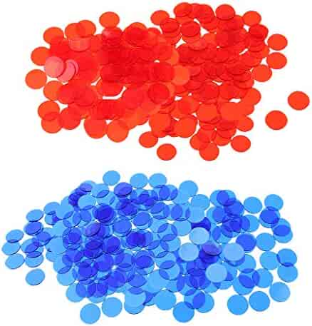 Prettyia 3//4 Inch Plastic Bingo Markers Chips Number Counters Pack of 100