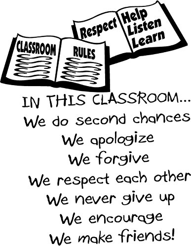 Quote It! - in This Classroom - Classroom Rules Vinyl Wall Decals Quotes Transfers Anti Bullying ()