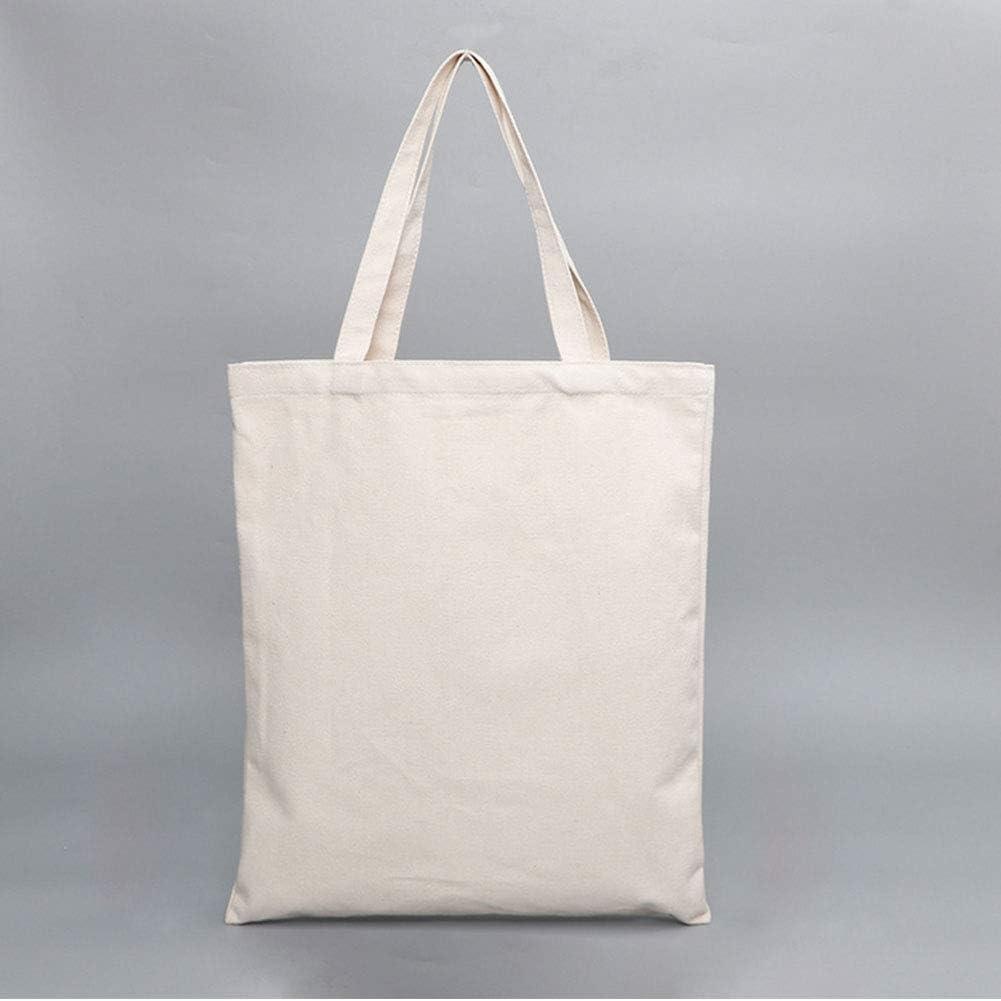 Totalizador Blanco de la Lona Bolsas de algodón Bolsas de Tela portátil Bolsas Bolsas Reutilizables de Almacenamiento con Cremallera para la Escuela Las Compras Blanca 1pc: Amazon.es: Hogar