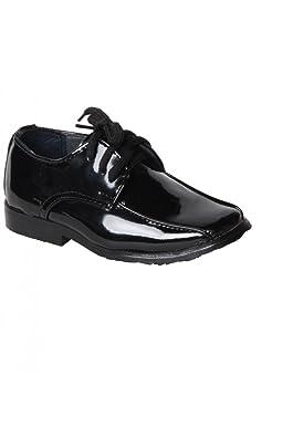 b3d2189f9b399 Chaussure Bébé Derby Cérémonie coloris noir jolies surpiqûres - Noir - P-19   Amazon.fr  Chaussures et Sacs