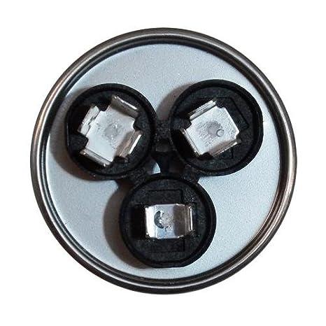35 3 uf MFD 370 VAC Round Dual Capacitor 12730 Replaces C3353R 97F9472