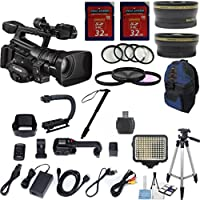 Canon XF300 High Definition Professional Camcorder Exclusive Celltime Bundle w/ .43x Wide Angle Lens +2.2x Telephoto +2pcs 32GB High Speed Memory Cards +22pc Accessory Kit - International Version