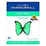 Hammermill 104646 Laser Print Office Paper, 98 Brightness, 32lb, 8-1/2 x 11, White, 500 Sheets per Ream