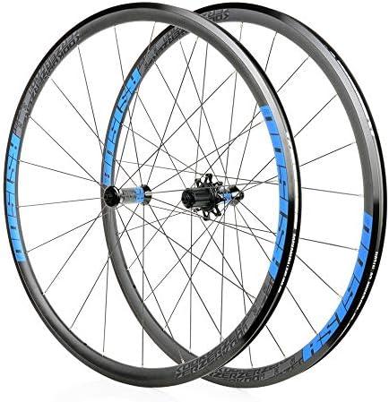 サイクリングホイール、700Cロード自転車ホイールセット30MMアルミニウム合金自転車用ホイールシールベアリングクイックリリースキャルパーブレーキ32Hフロント2リア4