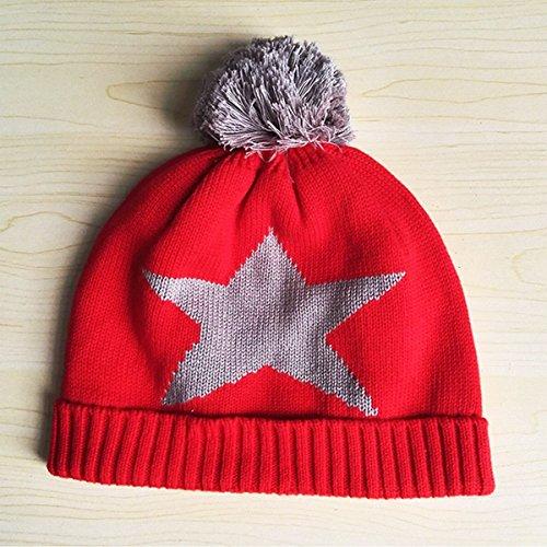 Bébé Rouge Tout Kid Gants Beanie 3pcs Écharpe Enfants petits Hat Cap Crochet Knit wx4OfqHY