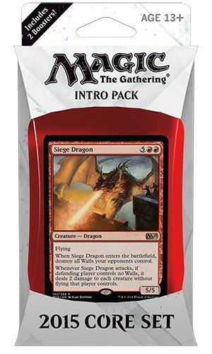 Magic the Gathering (MTG) 2015 Core Set / M15 Intro Pack / Theme Deck - Siege Dragon (Red/Blue)(Includes 2 Booster Packs) (Core Set Theme Deck)