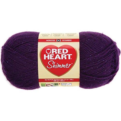 Red Heart Shimmer Yarn-Plum (Shimmer Red Heart)