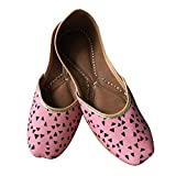Indian Ethnic Jutti Pump Shoes Ballet Flats Embroidered Jutti Traditional Shoes Casual Flats for Women and Ladies (7.5)