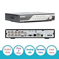 EWETON H.264 8ch 960H P2P DVR HDMI TV VGA Output Motion Detection Digital Video Recorder Network CCTV Security System QR Scan Smartphone Remote View e-Cloud(2CH D1+6CH CIF Realtime Recording,No HDD)