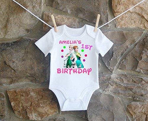- Frozen Birthday Shirt, Frozen Birthday Shirt For Girls, Personalized Girls Frozen Birthday Shirt, Customized Anna And Elsa Birthday Shirt
