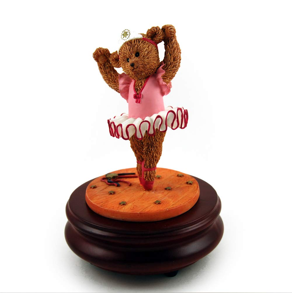 Thread Bears - Ballerina Threadbear Musical Figurine - Over 400 Song Choices - America the Beautiful by MusicBoxAttic (Image #1)