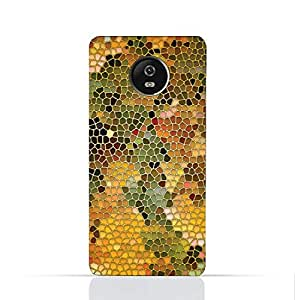 Motorola Moto C TPU Silicone Case With Stained Glass Art Design.
