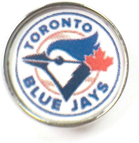 (Snap Jewelry Fashion MLB Logo Toronto Blue Jays 18MM - 20MM Jewlery Snap Charm)