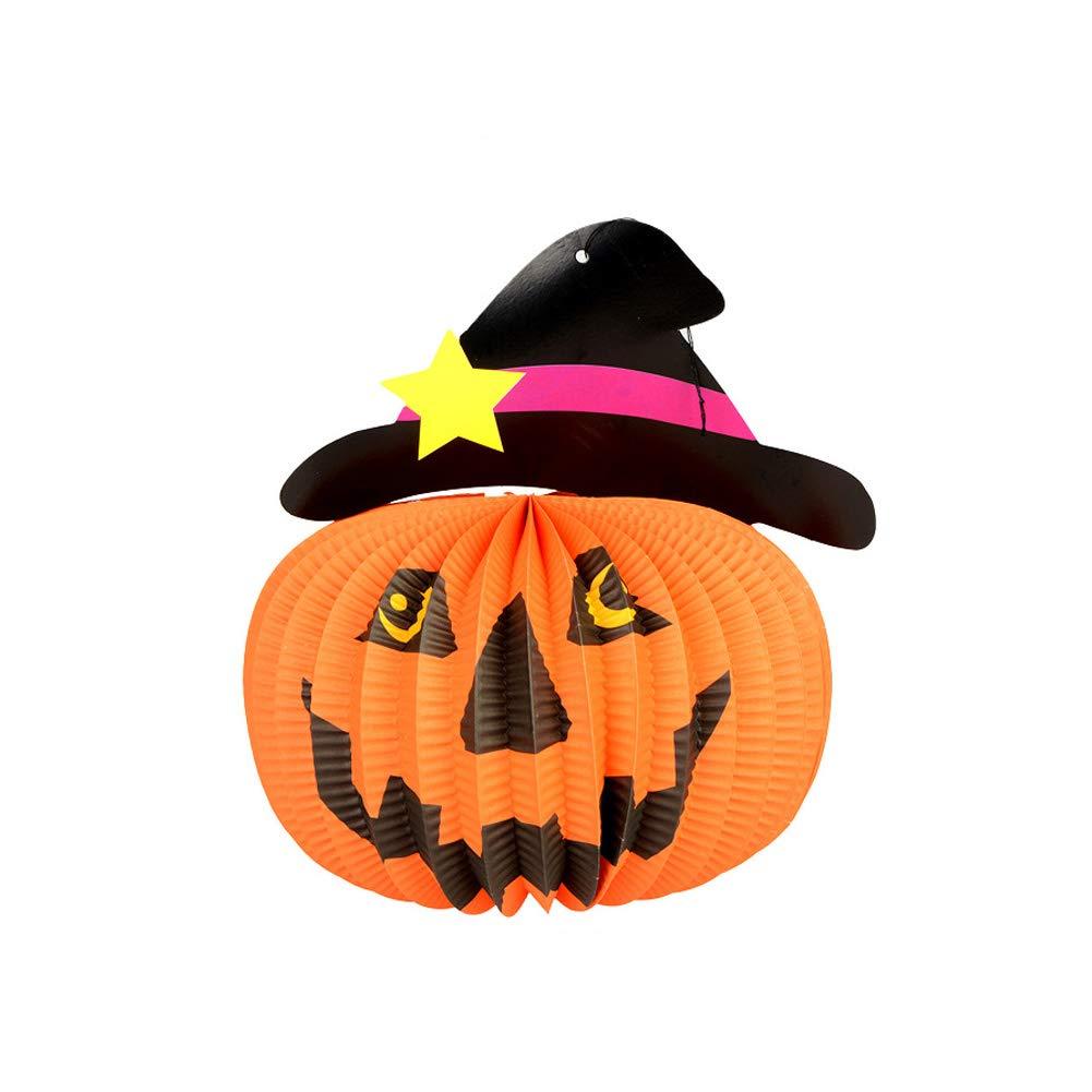 Decorazioni di Halloween fantasmi Bambola Pendenti, elementi decorativi di zucche, fantasmi e ragni, per la casa, bar, KTV, Supermercato Decorazione (1pcs cappello) Hilai