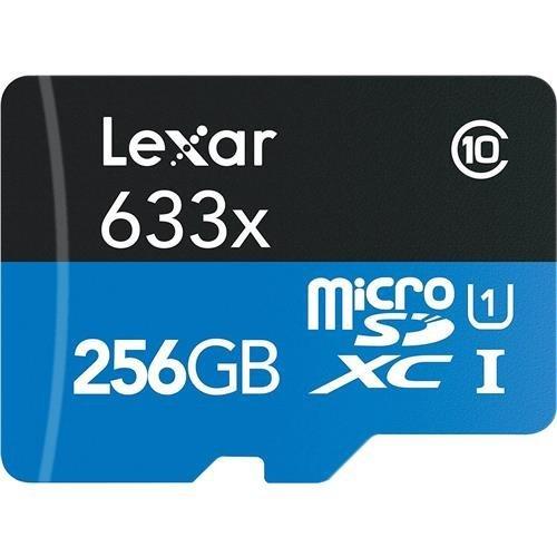 Lexar 256GB High-Performance UHS-I Class 10 U1 633x microSDX