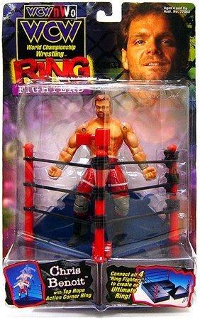 WCW NWO Wrestling Action Figure Ring Fighting Chris Benoit