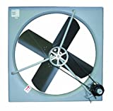 TPI Corporation CE-24-B Commercial Exhaust Fan – Single Phase 24'' Diameter, 120 Volt Industrial Fan for Ventilating Interiors. Bathroom Vent Fan