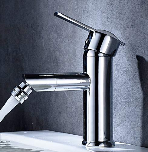 B ROKTONG Faucet Copper Body Single Hole Hot And Cold Water Faucet Bathroom Washbasin Basin Mixing Valve, B