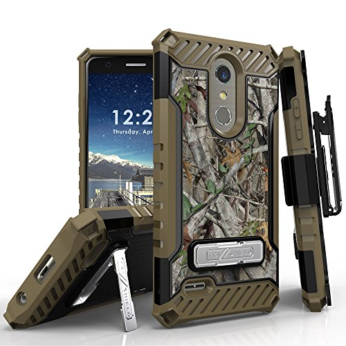 LG K30 Case (X410), LG Phoenix Plus, LG Premier Pro LTE, LG K10 2018 Phone Case, 12 Ft Military Grade Drop Tested Belt Clip Kick Stand Hybrid Shockproof Armor Cover (Camo) by 6goodeals