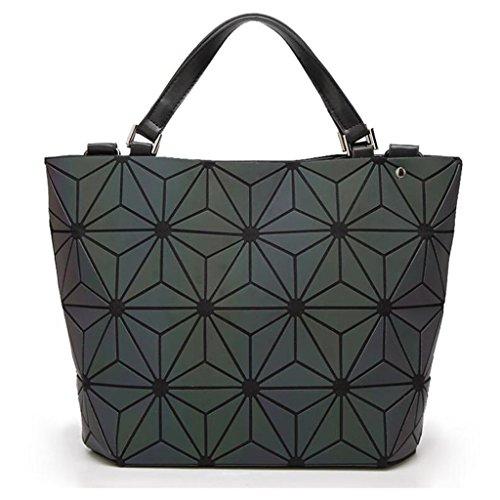Bolso, PU Tote Bag New Women Messenger Bags Bolso De Cuero Bolso Informal,Silver,30*26CM A