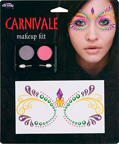 Fun World Masquerade Lace Face Carnivale Halloween 4pc Makeup Set.13 oz
