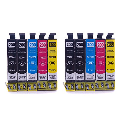 MPC DirectTM 10 PK T200XL Compatible Ink Cartridge for EPSON T200 (4 Black, 2 Cyan, 2 Magenta, 2 Yellow)Expression Home XP-200,Expression Home XP-300,Expression Home XP-400,WorkForce WF-2530,WorkForce WF-2540