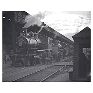 1936 New York Central Old Depot Trains Syracuse NY Photo Poster