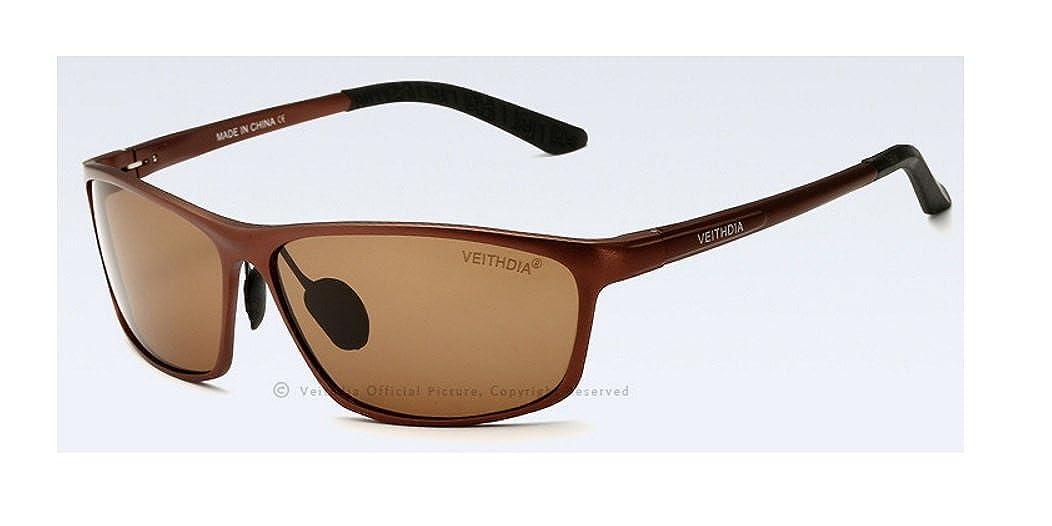 Veithdia la alta calidad de los hombres de aluminio polarizadas gafas de sol deportivas Modelo 6523: Amazon.es: Ropa y accesorios