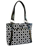Cheap Kailo Chic Casual Laptop Tote Bags (Black and White Moroccan)