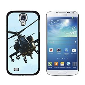 New style Apache Helicopter - Snap On Hard Protective Case for Samsung Galaxy S4 - Non-Retail Packaging - Black