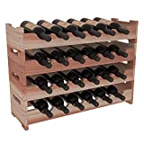 Wine Racks America Redwood 24 Bottle Mini Scallop. 13 Stains to Choose From!