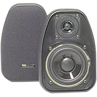 BIC AMERICA DV-32B 3 1/2 2-Way Compact Shielded Speakers - Black