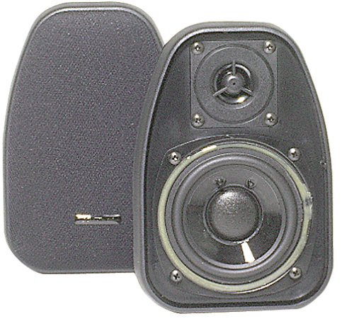 BIC AMERICA DV-32B 3 1/2'' 2-Way Compact Shielded Speakers - Black by BIC America