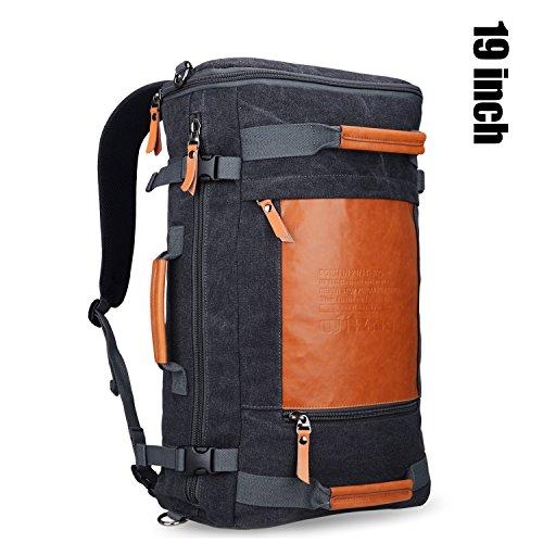 Travel Outdoor Computer Backpack Laptop bag 19''(black) - 5