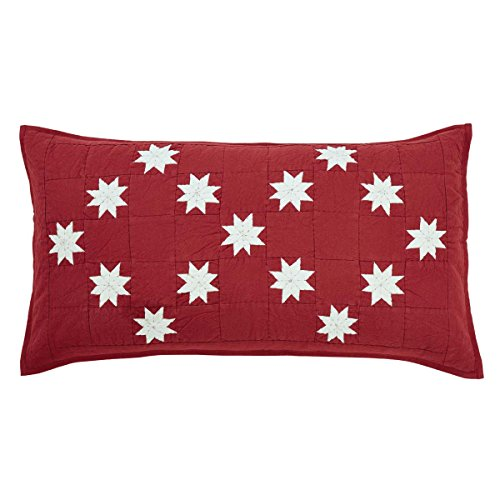 VHC Brands Christmas Farmhouse Bedding - Kent Red Sham, King