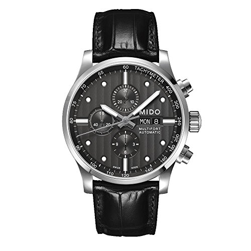 Mido Men's MIDO-M0056141606100 Multifort Analog Display Swiss Automatic Black Watch
