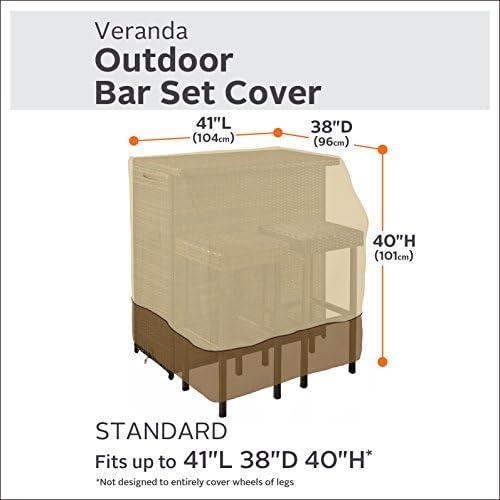 Classic Accessories Veranda Water-Resistant 41 Inch Outdoor Bar Set Cover