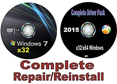 Recovery disc compatible w/ WINDOWS 7 Ultimate x32/32 bit Repair/Recovery/Restore Boot Disc. **NOW with Network Drivers Included~Full Support Included