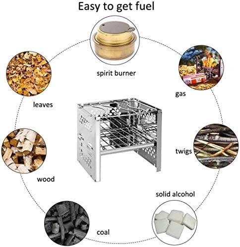 LW Gril De Barbecue Au Charbon De Bois Plié, Kits D'outils De Barbecue Pliable Portable en Acier Inoxydable pour Cuisine Camping Jardin Taille