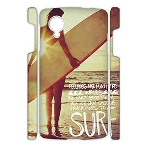 Canting_Good Surfboard Custom Case Shell Skin for Google Nexus 5 3D