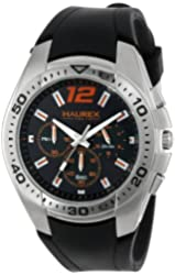 Haurex Italy Men's 3A384UNO Speed Black/Orange Chronograph Watch