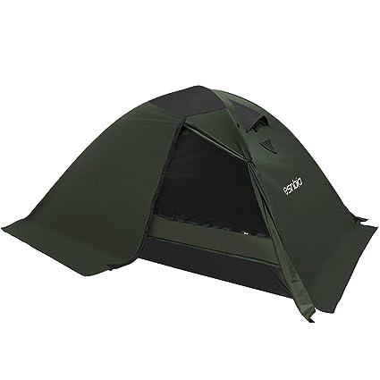 b9225235afeb1b ESNBIA Kuppelzelt 2 Person 4 Season Wasserdichtes Campingzelt für Outdoor  Backpacking Wandern
