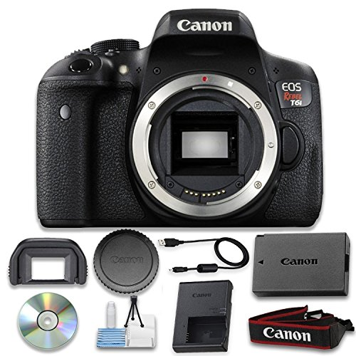 Canon EOS Rebel T6i Digital SLR (Body Only) - Wi-Fi Enabled International Version (No warranty)