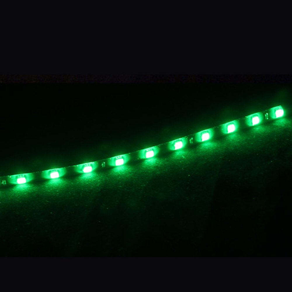 E Support/™ 4 X 30cm 15 LED Auto KFZ Wasserdicht LED Lichtleiste Balken SMD Streifen Leiste 12V gelb