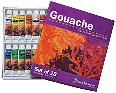 Jack Richeson Paints Gouache, 12ml, Set of 18