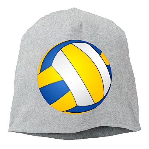 Reteone Fashion Solid Color Volleyball Images Turtleneck Cap for Unisex Ash One Size