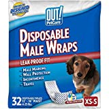 OUT! Disposable Male Dog Diapers | Absorbent Male Wraps with Leak...
