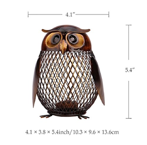 TOOARTS Owl Shaped Metal Coin Box Home Furnishing Articles Crafting - 1